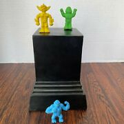 Vintage Lot Of 3 Diener Erasers. Robots Dard And Horta, And King Kong