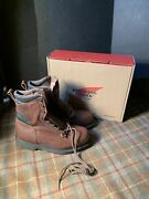 Red Wing 2264 Mens 8.5 E3 Extra Wide New Brown Leather Work Boots Usa