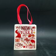 Starbucks Ornament New York Been There Tote Bag Ceramic Gift Card Holder