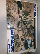 Vintage 1960andrsquos Marx Battleground Play Set 4756 Box Accessories Army France Usa