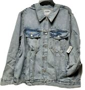 Nwt Woman Plus Old Navy Classic Jean Jacket Size 2x Light Blue Ripped 44.99