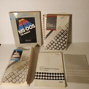 Set Of 5 Tandy Computer Manuals Personal Deskmate 2, Ms-dos, 1000 Sx, 300 Baud