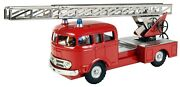 Mercedes Fire Engine With Ladder 143 Kovap Hand Made Collectible Tin Toys