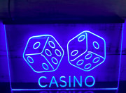 Casino Multi-color Led Neon Light Sign Display Signboard Dice Lucky Game Sale