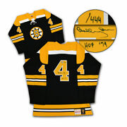 Bobby Orr Boston Bruins Signed And Inscribed Mitchell And Ness Jersey /444