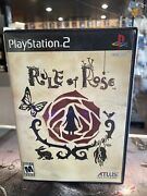 Rule Of Rose - Complete Cib Us Sony Playstation 2 Ps2 Atlus Registration Card