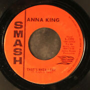 Anna King Thatand039s When I Cry / Tennessee Waltz Smash 7 Single 45 Rpm