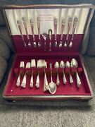 Eternally Yours Vintage Rogers Bros 1847 Silverplate Flatware Set For 8 W/chest