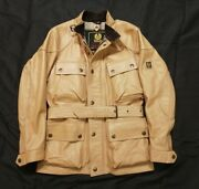 Belstaff Trial Master Leather Panther Made In Italy Jacket Menand039s Motorcycle Mint