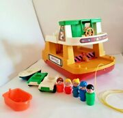 🎈vtg Fisher Price Little People Play Family Ferry Boat 932 Cars People Boat