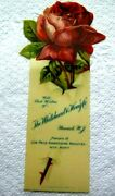 Antique Whitehead Hoag Co. Celluloid Bookmark Book Mark Advertising Pinback Sign