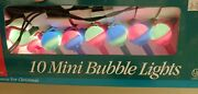 Sterling Color Mini Bubble Bubbling Lights Christmas Decorations Trees