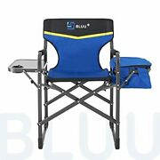 Bluu Aluminum Folding Camping Chairs Heavy Duty Camp Director Chair For Adult...