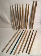 Lot 18 Wood Percussion Drumsticks Dsn 8a Beaters 5b Peters Fibes 3s-h Juggs 7a