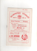 1954-55 Accrington Stanley V Tranmere Rovers 26th March 1955 Division 3 North