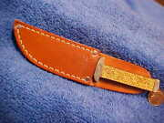 Case Tested Xx Vintage Gold Stone Sheath Knife Letter Opener Leather Sheath Ghpt