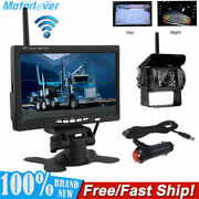 7 Monitor Wireless Backup Rear View Camera System Night Vision For Rv Truck Bus