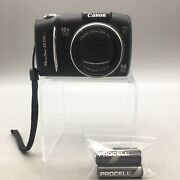 Canon Powershot Digital Camera Sx110is 9.0 Mp 10x Zoom Pc1311 Fast Shipping A04