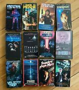 12 Sci-fi Horror Vhs Mega Lot Invaders From Mars Prototype X29a Sci-fighters