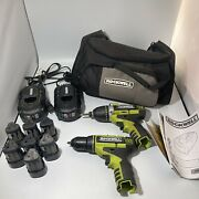 Lot Of Rockwell 3rill Impact And Drill With Batteries And Chargers