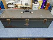 Vintage Craftsman Usa 30 Wide Metal Toolbox With Tray