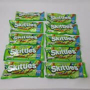 10 Packs Share Size All Lime Skittles Limited Edition 4.00 Oz Free Priority