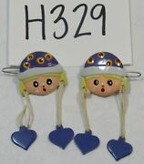 Girls' Barrettes Hair Clips Girl With Heart Dangles Vintage