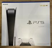 New Ps5 Playstation 5 White Console Disc Edition Version 2020 Cfi-1000 Version