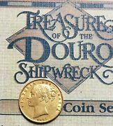 1855 Gold Rms Douro 1882 Shipwreck Young Head Shield Great Britain Sovereign