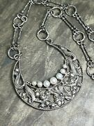 Echo Of The Dreamer Mars And Valentine Vintage Crescent Moon And Pearl Necklace