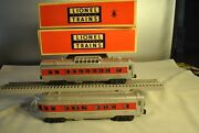 Lionel 'o' Post-war 2446 Summit Observation Car And 2442 Clifton Vista Dome Car
