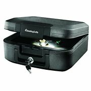Chw20205 Fireproof Waterproof Box With Key Lock And Interior Light 0.28 Cubic Fe