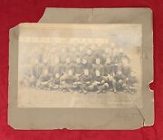 Antique 1908 Univ Of Pittsburgh Football Team Cabinet Photo Early Pitt Vintage