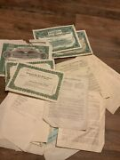Lot Of Goldfield Nevada 1900's Mining Paperwork Stock Certificates Letters