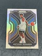 2020-21 Prizm Basketball Anthony Edwards Silver Rc Rookie Card 258 Timberwolves