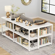 3-tier Industrial Entryway Table Rustic Console Sofa Table With Storage Shelves