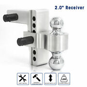 6 Adjustable Drop Hitch Ball Mount For 2 Receiver Heavy Duty Towing Trailer