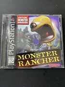 Monster Rancher Sony Playstation 1 Rare Ps1 Complete W Registration Card