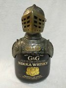 Treasure Found 70s Nikka Whisky G And G Knight Metal Topper With Empty Bottle ニッカ