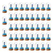 50pcs Home Glass Dome Display Jar Cover Shield Shade, With Wooden Cork Craft