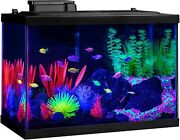 Aquarium Gallon Kit Fish Tank With Led Lighting And Filtration Included Lights