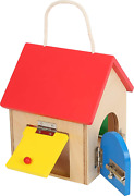 Small Foot Wooden Toys Compact House Of Locks Playset Designed For Children 3+,