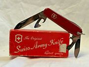 Victorinox Swiss Army Knife Folding Pocket In Box Rostfrei Officier Suisse Tools