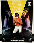 2021 Panini Black Justin Fields Gold Parallel 5/5 Rc Chicago Bears Investment 🔥