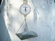 Vintage American Family Scale Co. Chicago Hanging Basket Scale 60 Lb