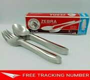 12 Pairs Stainless Steel Cutlery Chinese Thai Japanese Soup Rice Spoons By Zebra