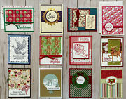 12 Christmas Holiday Winter Greeting Cards Envelopes Stampinand039 Up Plus More