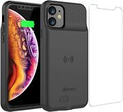 Iphone 11 Battery Case 5000mah Slim Portable Protective Extended Charger Cover W