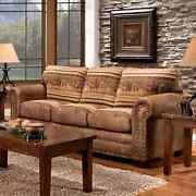 Wild Horses Lodge Sleeper Sofa Brown Transitional Country