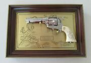 Franklin Mint General George S. Patton Colt .45 Revolver With Display Frame